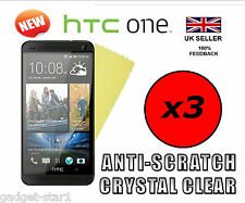 3x HQ CLEAR SCREEN PROTECTOR COVER LCD GUARD FILM FOR HTC ONE NEW HTC ONE M7