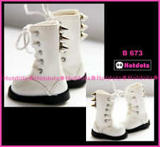 Custom Punk Boots For Blythe/ Pullip/ Monster High/ Momoko/ Licca/Dal - B673,WH