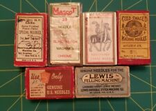 Associated Vtg  Sewing Machine Needle Boxes lot of 6