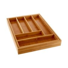 Kyoto Bamboo Natural Expandable Cutlery Storage Tray 6 Compartments Kitchenware