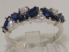 White Gold Sapphire Eternity Fine Gemstone Rings