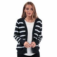 Womens Brave Soul Stripe Cardigan In Navy / White