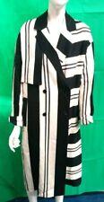 Ladies Long Coat Jacket From Topshop UK Size 12 Black/White #276