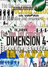 Official f(x) the 1st concert DIMENSION 4 Docking Station in JAPAN 2 x DVD NEW