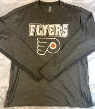 Nhl Official Philadelphia Flyers Hockey Mens Long Sleeve Shirt Xl Polyester Vent