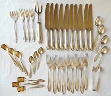 "Vintage Silverplate Flatware 40 Pieces ""Youth Style"" Alekto 90 Germany & Case"