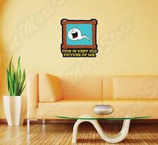 """Old Picture Photo Frame Sperm Adult Wall Sticker Room Interior Decor 22""""X22"""""""