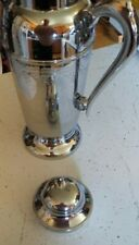 """Stainless Steel Coffee Tea Pot Server Made in India 10"""" Tall"""