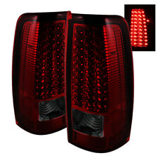 Chevy 99-02 Silverado 99-03 GMC Sierra Red Smoked LED Tail Lights Left & Right