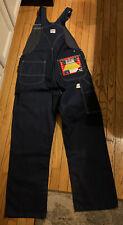 New listing Vtg Liberty Bib Overalls Brass Zipper Hee Haw Heavy Duty Denim Farmer 38x32 Rare