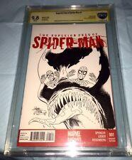 VENOM HAND SKETCH Amazing Spiderman 1 Blank Cbcs 9.8 SS Mint High Detailed Art