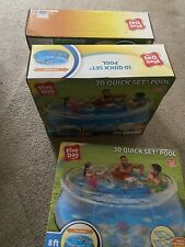 Play Day 8ft 3D Transparent Quick Set Pool Includes 2 Pairs 3D Goggles