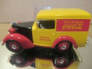 COCA COLA DIE CAST 1:25 SCALE 1938 PANEL VAN BANK NEW IN BOX MINT CONDITION