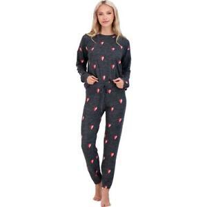 PJ Salvage Womens Sealed With A Kiss Printed Sleep Shirt Loungewear BHFO 3104