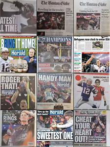 New England Patriots Super Bowl LI/ AFC Boston Globe & Herald Newspapers 2017-18