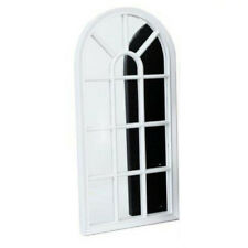 WINDOW STYLE MIRROR WHITE DECORATION 70CM HOME WALL MOUNTED VINTAGE GIFT ROOM