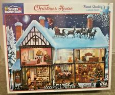 White Mountain Christmas House Jigsaw Puzzle 1000 Piece Holiday USA Made Sealed