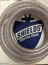 "HOSE CLEAR PVC TUBING RED TRACER 5/8"" 88 1620586 24FT MARINE BOAT WATER EBAY"