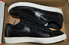New Womens Nike Blazer Low Leather Prm Premium Shoes 685239-002 sz 9 Black