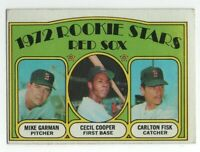 1972 Topps Carlton Fisk /  Cecil Cooper / M Garman Rookie RC #79 - FREE SHIPPING