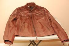 Men's Bod & Christensen Rico Leather Jacket Burgundy Small