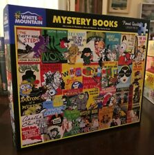 WHITE MOUNTAIN PUZZLE 1000 -- MYSTERY BOOKS  - USED - COMPLETE