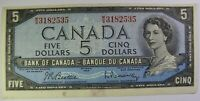 1954 Canada 5 dollar bill $5 dollars MS3182535