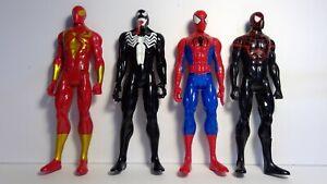 Marvel Spiderman Titan Hero series. Spiderman, Miles Morales,Iron Spider, Venom