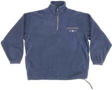 Gant The Rugger Fleece 1/4 Zip Pullover Blue Sweater Jacket Mens Large L EUC