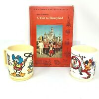 Vintage Disneyland Mickey Mouse Club, Donald Plastic Cups & Disneyland Book