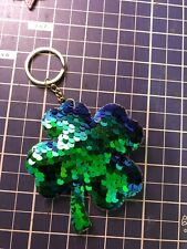 Four Leaf Clover Key Chain Fortune Lucky Charm Key Ring Saint Patrick Day Gift