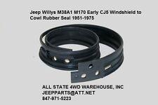 Windshield Cowl Seal Rubber Weatherstrip for Jeep CJ5 CJ6 1955-1975, 51/UP M38A1