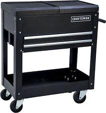 Work Bench Mobile Heavy Duty Tool Cart Steel Drawer Wheel W Brake Durable Shop