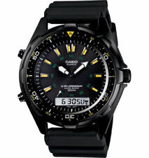 Casio AMW360B-1A1 Men's Black IP Marine Gear Analog Digital Sports Diver Watch