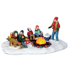 "LEMAX CHRISTMAS VILLAGE ""SLEDDING POTLUCK"" SKU No. 64085 ANIMATED TABLE ACCENT"