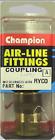 NEW 3/8 BARB COUPLING AIR FITTING RYCO B241