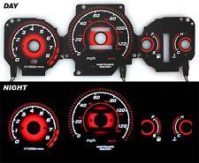 1996-2000 EK Civic EX Radiant Red Glow Gauge BLACK AT
