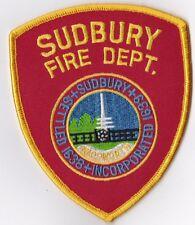 Sudbury Fire Dept. MA  Firefighter Patch NEW!!