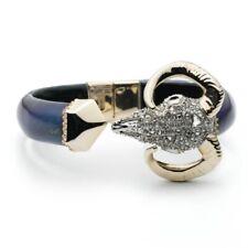 Alexis Bittar Crystal Encrusted Horned Ram's Head Bracelet