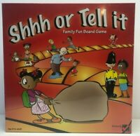 Shhh or Tell it – Family Fun Board Game Ages 8 to adult 2 - 6 players NEW Sealed