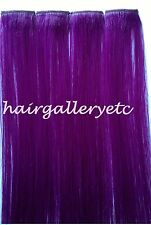 """14"""" Multi Color Clip-in Human Hair Extensions-4pcs for highlights Vibrant USA"""