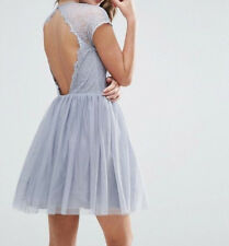 Branded PREMIUM Lace Tulle Mini Prom Dress UK 8