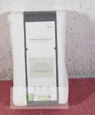 Threshold- Organic Cotton 300 Thread Count Solid King Pillowcase Set, Cream