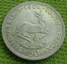 Zuid Afrika - South Africa 50 cents 1964 Jan van Riebeeck Silver KM# 62