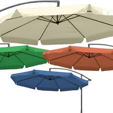 Ampelschirm Sonnenschirm Gartenschirm mit Kurbel Schirm 300cm 350 cm beige rot