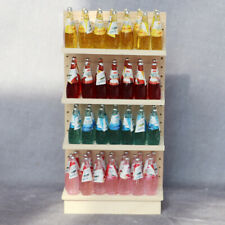 1/12 Dollhouse Unpainted Shelf Diy Mini Furniture Model Supermarket Scene Decor