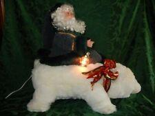 Animated Santa Claus and Polar Bear with Lantern