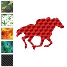 Horse Race Jockey Decal Sticker Choose Pattern + Size #1347