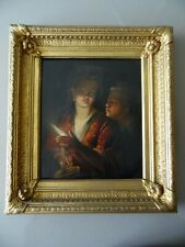 Godfried Schalcken  C19th Candlelight Painting Portrait Girl Holding a Candle,