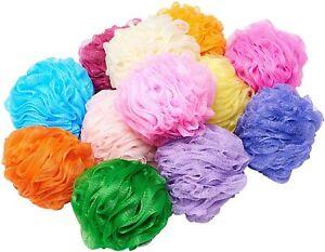 5 pc Shower Body Puff Bath Sponge Scrunchies Loofah Body Wash Assorted Colours